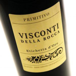 Visconti della Rocca - Primitivo 2018 6x 75cl Bottles
